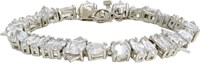 Fallon Strass Crystal Jagged Edge Bracelet Colorless