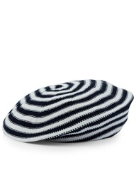 Sonia Rykiel Bi Colour Wool Stripe Beret Striped