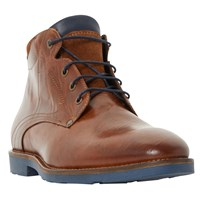 Bertie Chord Corduroy Collar Lace Up Boot Tan