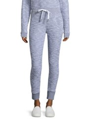 Stateside Boucle French Terry Sweatpants White Grey