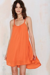 Nasty Gal Romy Tank Dress Orange