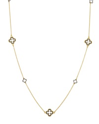 Freida Rothman Belargo Clover Station Necklace W Cz