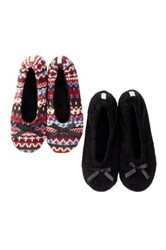 Gold Toe Ballerina Slipper Pack Of 2 Black