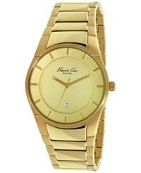 Kenneth Cole New York Men's Gold Tone Ion Plated Stainless Steel Bracelet Watch 42Mm 10027726