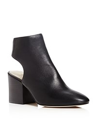 Bettye Muller Open Back High Heel Booties Black