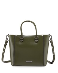 Charles Jourdan Mindi Zip Trim Leather Tote Bag Green