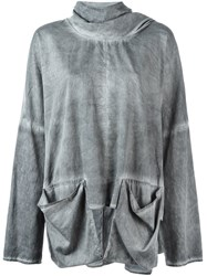 Lost And Found Rooms Patch Pocket Sweatshirt Grey