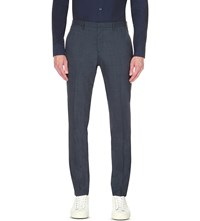 J. Lindeberg Paulie Slim Fit Wool Blend Trousers Navy