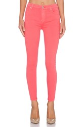 7 For All Mankind High Waist Ankle Skinny Coral