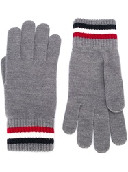Moncler Logo Patch Gloves Grey