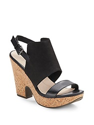 Naya Misty Leather Platform Sandals