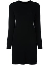 Twin Set Long Sleeve Jumper Dress Black