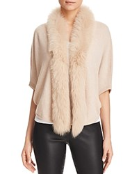Bloomingdale's C By Fur Trim Cocoon Cashmere Cardigan Wicker