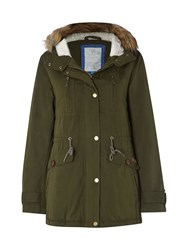 White Stuff Shadow Parka Green