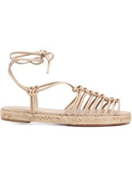 Chloe 'Jamie' Strappy Espadrilles Nude And Neutrals
