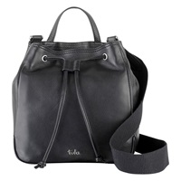 Tula Nappa Originals Medium Drawstring Bucket Bag Black