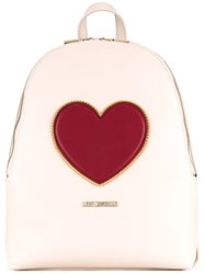 Love Moschino 'Heart' Backpack White