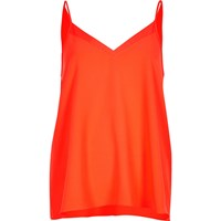 River Island Womens Bright Red Chiffon Insert Cami