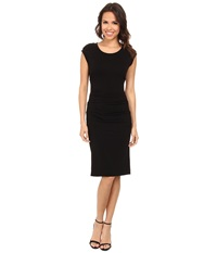 Nicole Miller Midi Lauren Open Back Jersey Dress Black Women's Dress