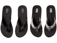 Teva Mush Mandalyn Wedge Two Pair Pack Motif Black Harmony Silver Women's Sandals Gray