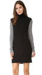 Equipment Colorblocked Oscar Dress Black Heather Grey