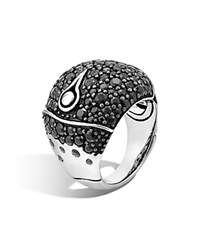 John Hardy Bamboo Silver Lava Dome Ring With Black Sapphire 100 Bloomingdale's Exclusive Black Silver