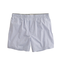 J.Crew Tattersall Boxers In Blue Sail Blue