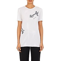 Nina Ricci Women's Lace Appliqued T Shirt White
