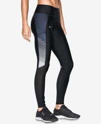 Under Armour Fly By Compression Heatgear Leggings Black White