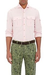 Michael Bastian Oxford Cloth Safari Shirt Pink