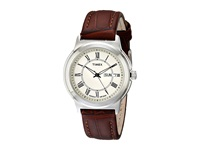 Timex Classic Brown Leather Strap Silver Watches