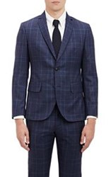 Brooklyn Tailors Glen Plaid Two Button Sportcoat Blue Size 4 Xl