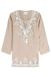 Gooshwa Embellished Tunic Brown