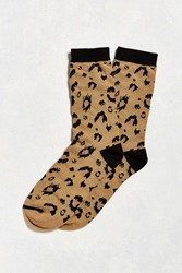 Urban Outfitters Leopard Sock Honey