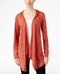 Styleandco. Style Co. Hooded Open Front Cardigan Only At Macy's Sienna Orange