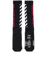 Off White Cut Socks In Black Stripes Black Stripes