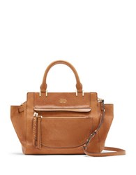 Vince Camuto Ayla Colorblock Leather Satchel Light Brown