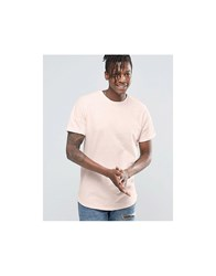 Pull And Bear Pullandbear T Shirt In Pink With Curved Hem Pink