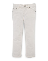 Ralph Lauren Childrenswear Skinny Corduroy Pants Oyster Bay Cream Size 2 6X