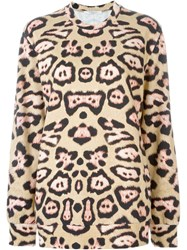 Givenchy Leopard Print Sweatshirt Nude And Neutrals