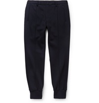 Wooyoungmi Tapered Wool Blend Jersey Sweatpants Blue