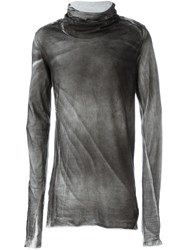 Lost And Found Ria Dunn Wrapped High Neck Top Grey