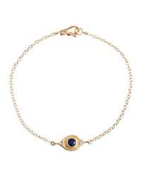 Evil Eye Bracelet With Sapphire And Diamonds Jamie Wolf