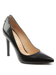 Daniel Elisha Lace Back Pointed Court Shoes Black