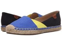 Sperry Katama Cape Color Block Baltic Blue Light Yellow Black Women's Slip On Shoes