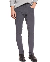 Vince 718 Slim Fit Skinny Corduroy Pants Pewter Black