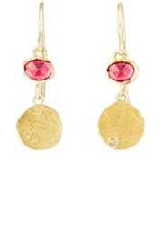 Judy Geib Women's Ruby Squash Drop Earrings Colorless