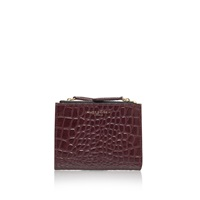Kurt Geiger Croc Mini Purse Red