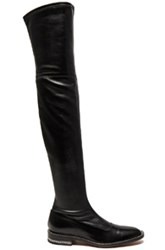 Givenchy Stretch Leather Over The Knee Boots In Black