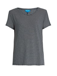 Mih Jeans Nora Striped Cotton Jersey T Shirt Navy Cream